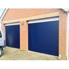 STEEL BLUE RAL 5011 - Installed Roller Shutter Garage Door