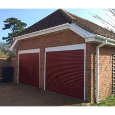 Red RAL 3004 - Installed Roller Shutter Garage Door
