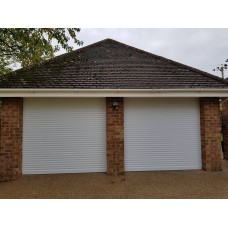WHITE RAL 9016 - Installed Roller Shutter Garage Door