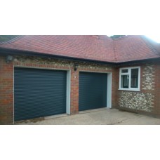 Anthracite RAL 7016 - Installed Roller Shutter Garage Door